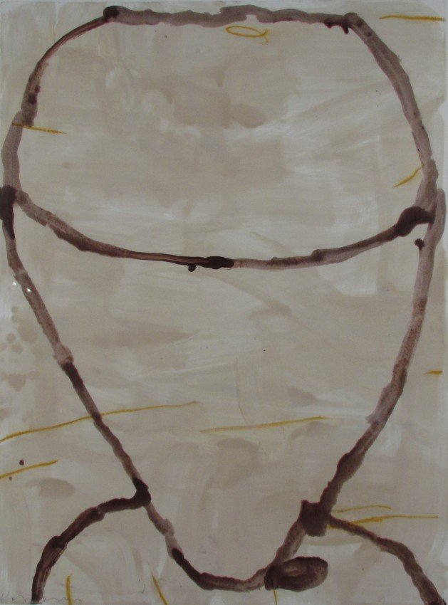 185: Gary Komarin Untitled Abstract encaustic
