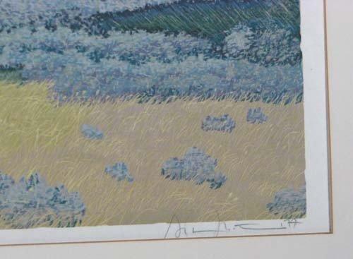 225: Gordon Mortensen reduction color woodcut North Dak - 3