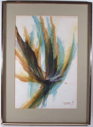 234: Leonardo Nierman Abstract watercolor