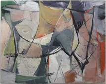 347: Edwin Zoller Untitled Abstract painting