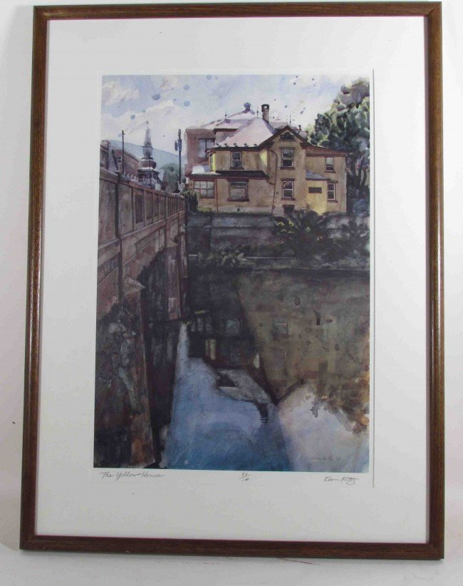 185A: Kevin Kutz Yellow House lithograph