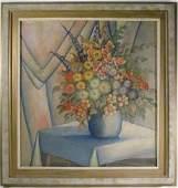 4: Harvey Prusheck Still Life of Flowers in a Vase