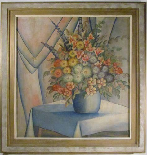 4: Harvey Prusheck Still Life of Flowers in a Vase