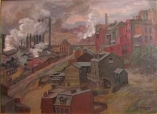 112: Albert Abramovitz painting Pittsburgh