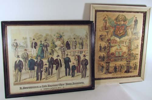 501: Two 19th Century Posters; Masonic and Gentleman's