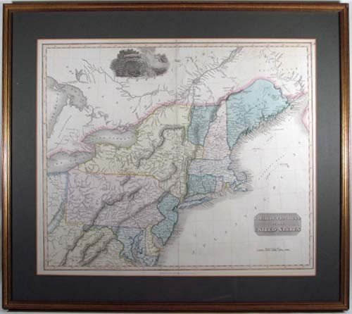505: Map of northern provinces of the U. S. circa 1812