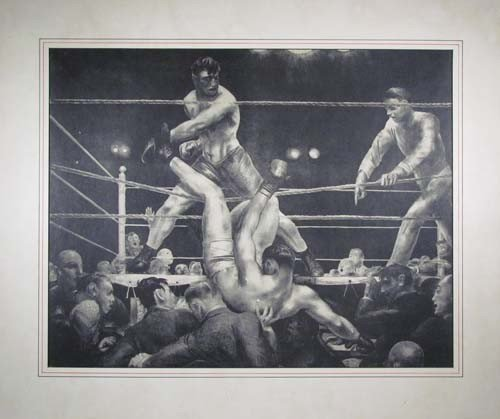 510: George Bellows lithograph of Dempsey and Firpo