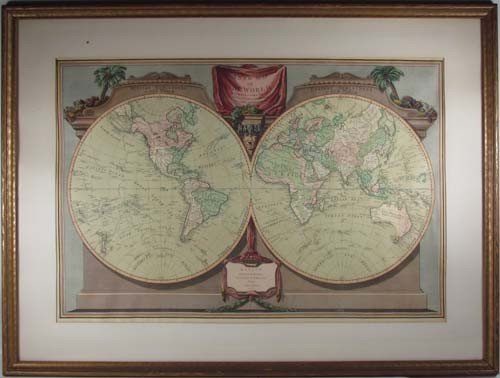 520: New map of the world, with Captain Cook's Tracks
