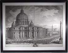 527 Vasi Architectural engraving of St Peters Rome