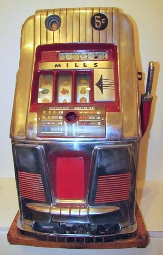 770: Mills 5 Cent Hi -Top Slot Machine Coin Operated