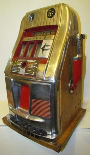 770: Mills 5 Cent Hi -Top Slot Machine Coin Operated - 2