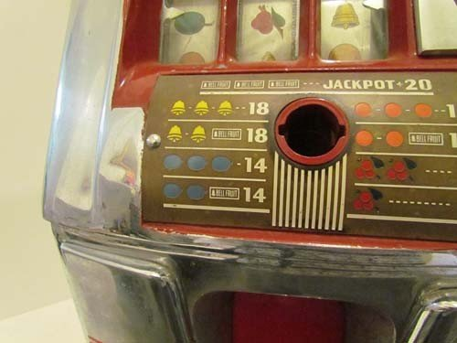 770: Mills 5 Cent Hi -Top Slot Machine Coin Operated - 5
