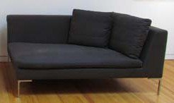 2: Dark Grey B&B Italia  Loveseat sofa
