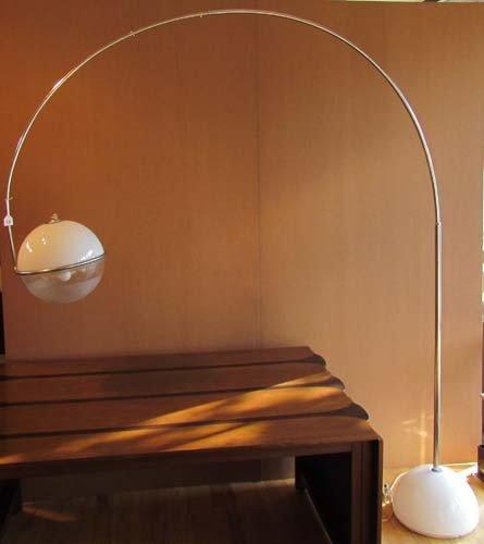 14: After Guzzini Arc floor lamp, Italy, white plastic