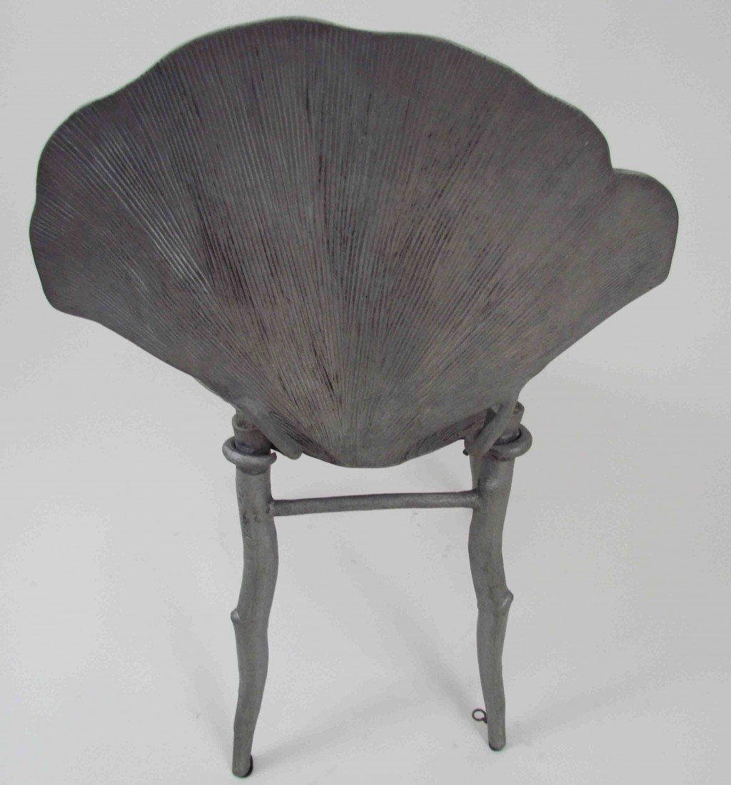 114: Pair of Claude Lalanne Ginkgo Chairs - 10