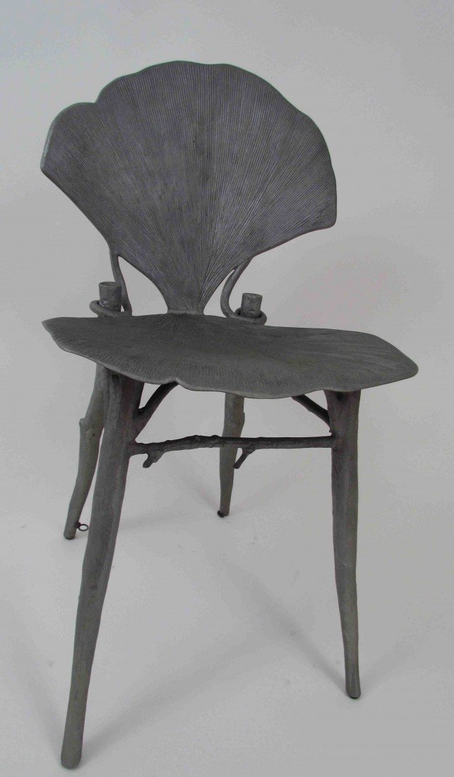 114: Pair of Claude Lalanne Ginkgo Chairs - 2
