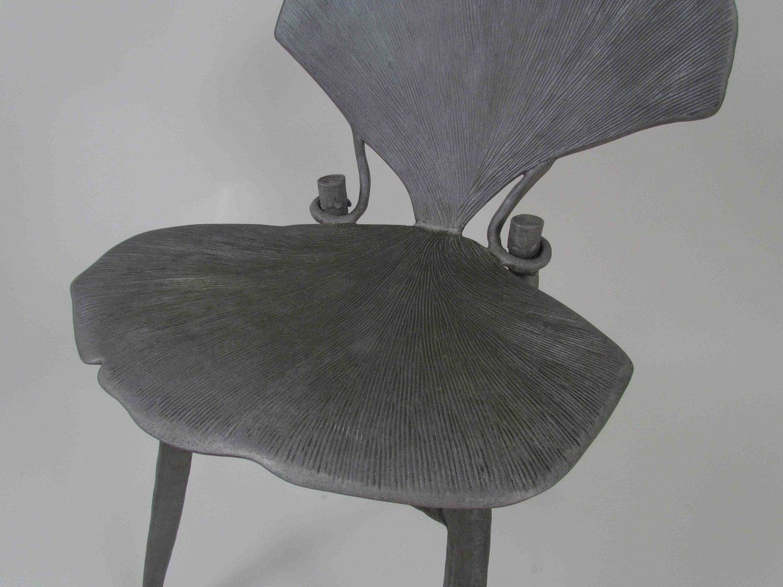 114: Pair of Claude Lalanne Ginkgo Chairs - 4