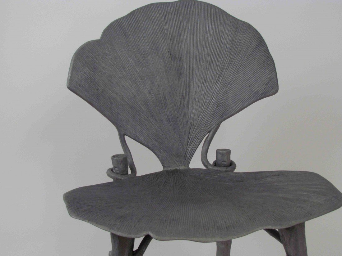 114: Pair of Claude Lalanne Ginkgo Chairs - 8
