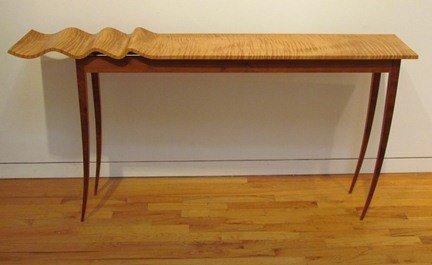 "127: T W Stender Sculptural ""Wave Goodbye"" Table"