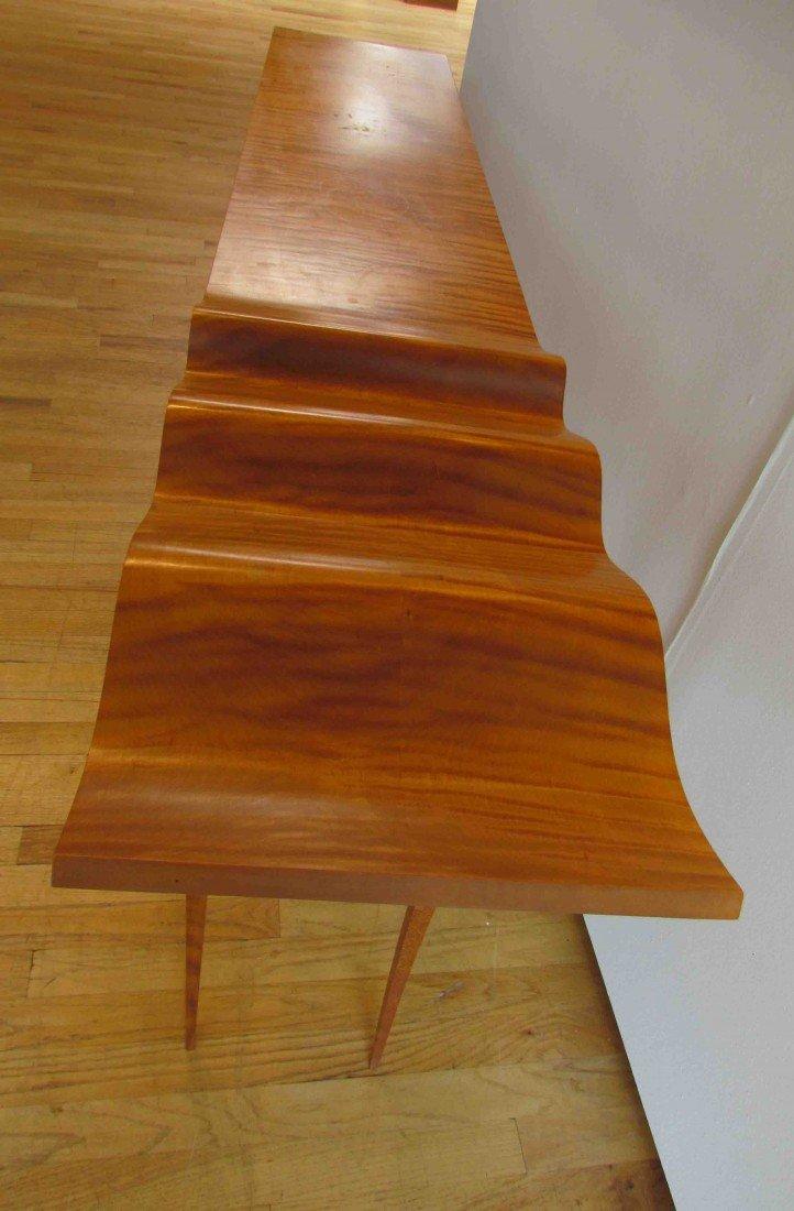 "127: T W Stender Sculptural ""Wave Goodbye"" Table - 6"