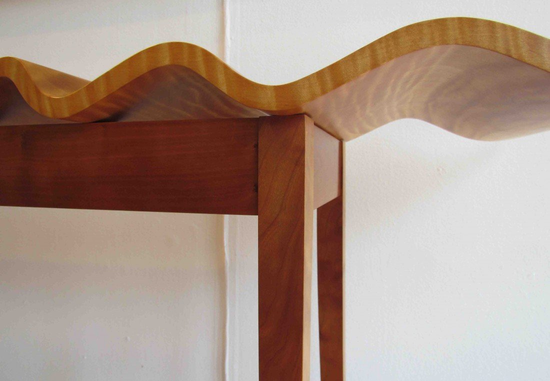"127: T W Stender Sculptural ""Wave Goodbye"" Table - 8"