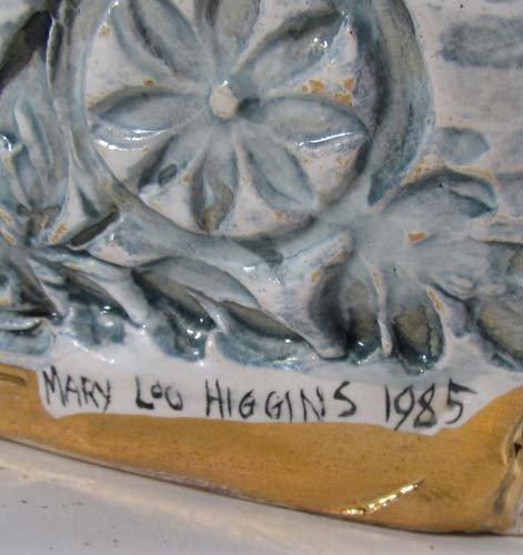 222: Mary Lou Higgins Figural Painted Ceramic Vase - 7