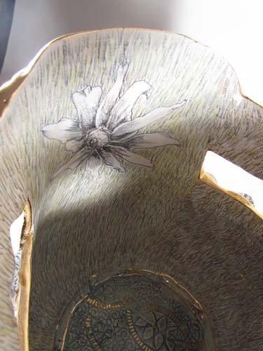 222: Mary Lou Higgins Figural Painted Ceramic Vase - 8