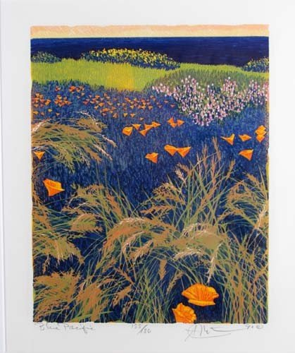 308: pair of Gordon Mortensen color reduction woodcuts, - 2