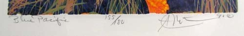 308: pair of Gordon Mortensen color reduction woodcuts, - 3