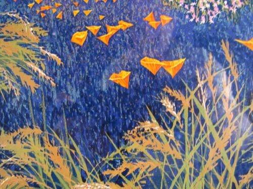 308: pair of Gordon Mortensen color reduction woodcuts, - 4