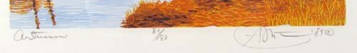308: pair of Gordon Mortensen color reduction woodcuts, - 6