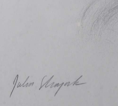 396: Pair John Shryock pencil drawings of Beach Dunes - 6