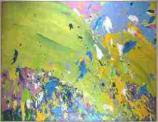 418: Walasse Ting 1969 Abstract Expressionist painting