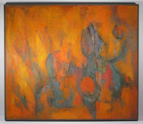 432: Milton Weiss abstract painting
