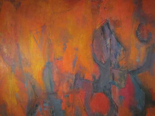 432: Milton Weiss abstract painting - 3