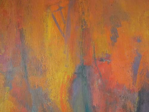 432: Milton Weiss abstract painting - 5