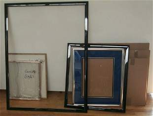 6 empty modern frames 2 lacquer frames