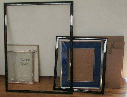1: 6 empty modern frames  2 lacquer frames