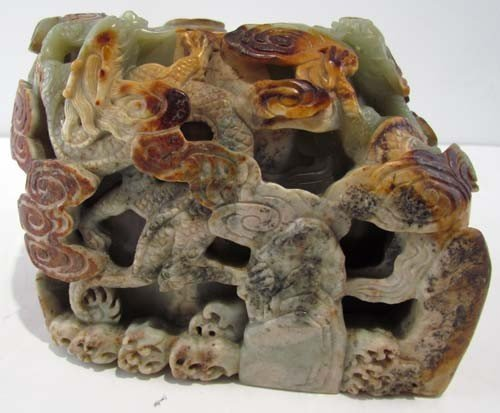 63: Extraordinary Jade  Chinese carved vessel, large