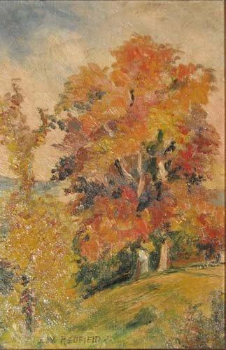 137: Edward. W. Redfield Autumn Landscape Painting