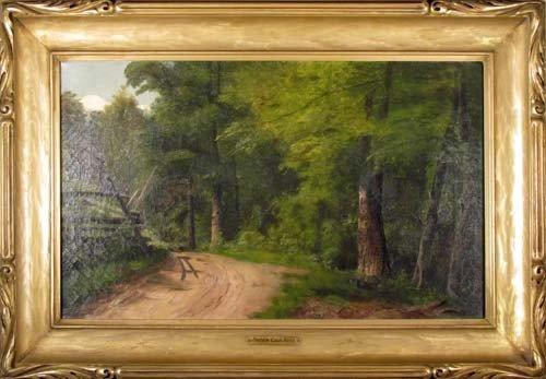 140: Hattie Cook Ross Landscape Painting