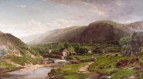 """147: Alfred S. Wall painting """"Pennsylvania Landscape"""""""