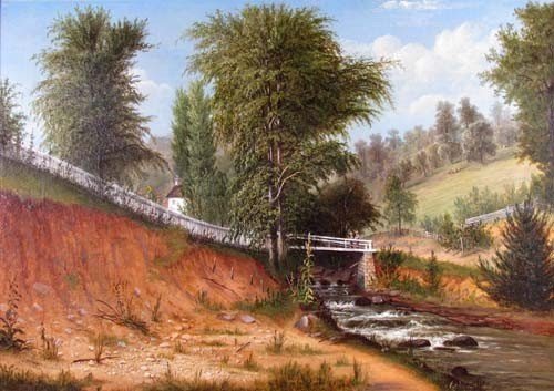 148: William Coventry Wall Bridge Landscape Painting