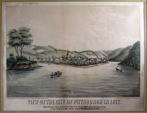151: W.C. Wall View Of The City Pittsburgh In 1817