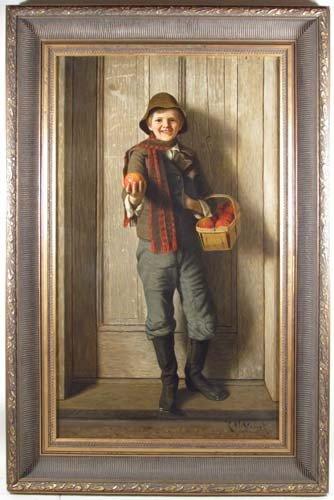 152: Karl Witkowski Boy with Apple Basket
