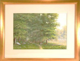 "George T. Hetzel W/c And Gouache ""Forest Path Nea"