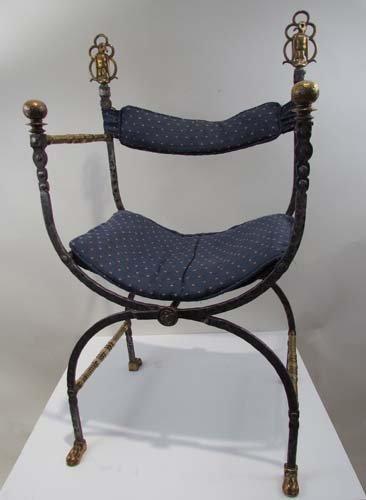 502: Oscar Bach Wrought Iron Chair
