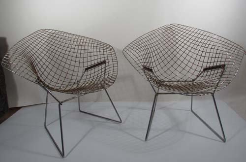 505: Pair of Bertoia Diamond Lounge Chairs