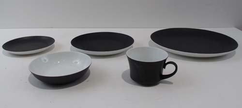 506: Set of Block Bidasoa Black Ceramic place settings
