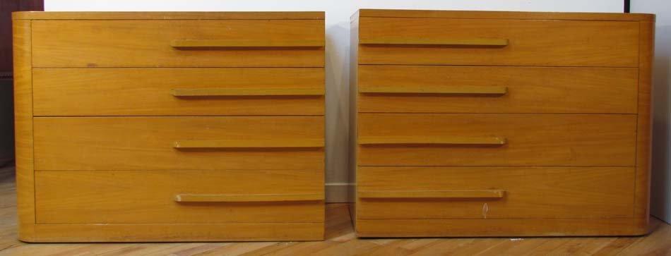 508: Matching Pair of Donald Deskey Dressers 1930's